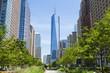 Leinwanddruck Bild - West Street and World Trade Center, New York