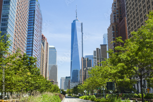 Leinwanddruck Bild West Street and World Trade Center, New York