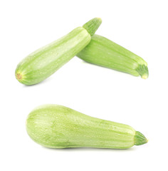 Fresh courgettes.
