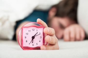 Oversleeping man