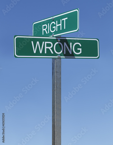 Right Wrong Sign