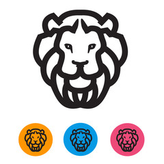 Lion. Vector format