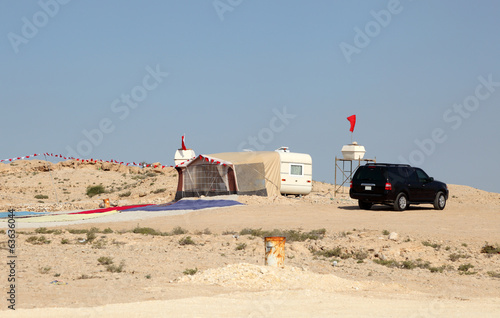 Camping in the desert of Bahrain, Middle East