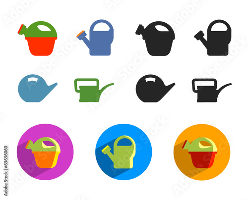 Watering can. Vector format