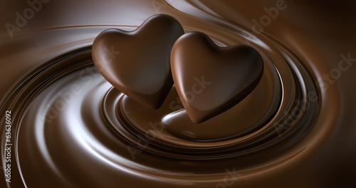 canvas print picture 2 Schokoladenherzen
