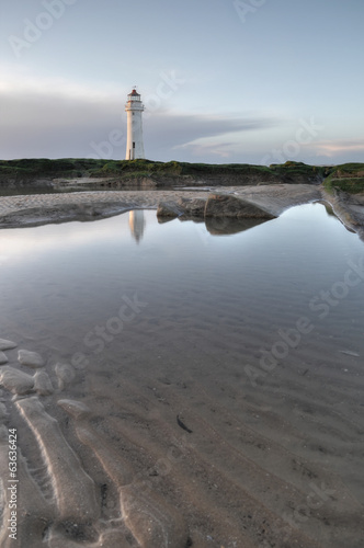 The Light house of New Brighton at sunset