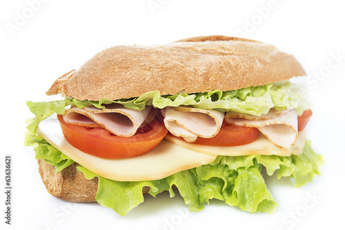 Deurstickers Picknick chicken breast sandwich