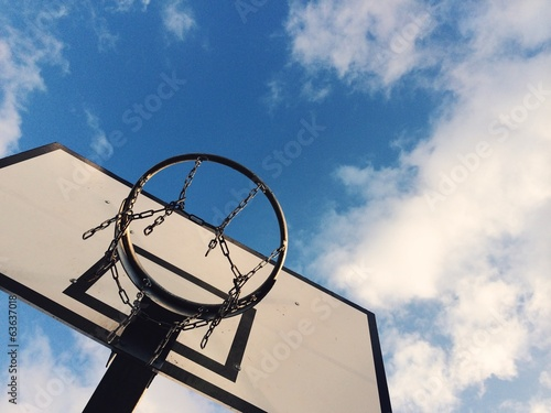 basketball court against the sky