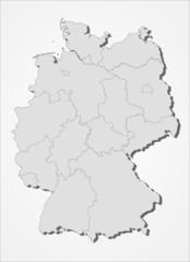 Deutschland mit Bundesländern