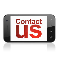 Marketing concept: Contact Us on smartphone