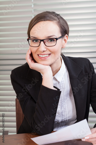 canvas print picture Portrait of businesswoman