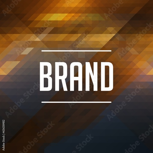Brand Concept on Retro Triangle Background.