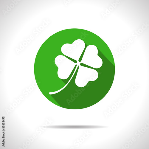 Vector clover icon. Eps10