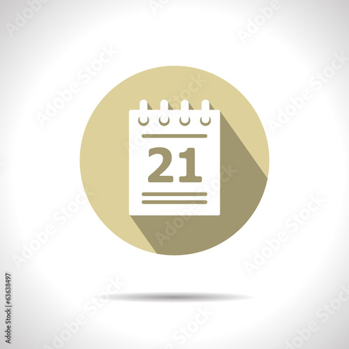 Vector calendar  icon. Eps10
