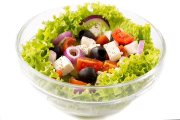 Spring salad isolated