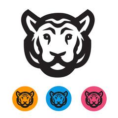 Tiger. Vector format