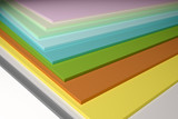 colorful plain chipboard poster