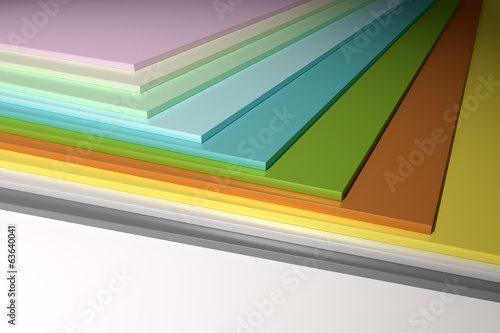 colorful plain chipboard