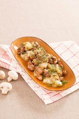 potatoes with mushroom