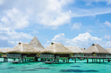 Luxury overwater bungalows with view of Pacific Ocean - 63641250