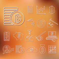 bitcoin outline icons