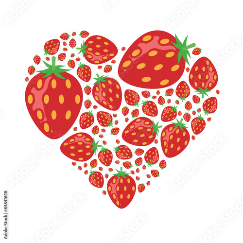 strawberries in heart