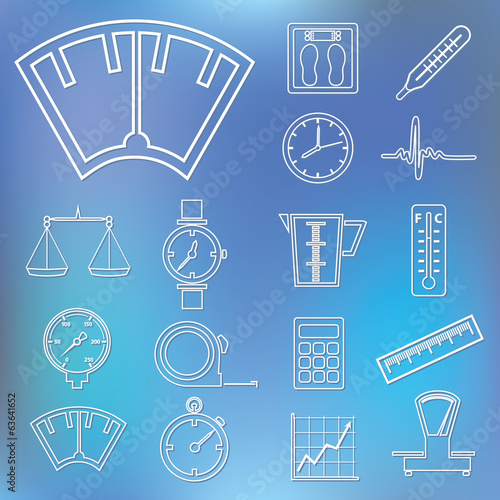 measuring outline icons