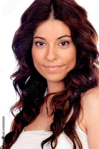 canvas print picture Beautiful brunette girl