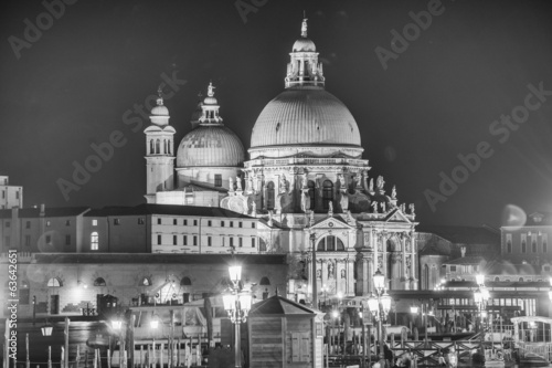 Basilica Santa Maria della Salute, Venice, Italy on a beautiful