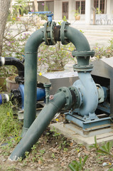 water pumping on the ground field