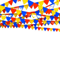 Colorful Flag Garland With Text Space
