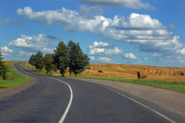 Belarus countryside road