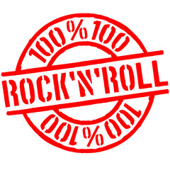 100 % Rock'N'Roll Stempel Logo