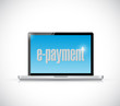 laptop and e payment illustration design