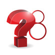 question mark and red circles illustration design