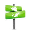 fair play street sign illustration design