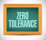 zero tolerance message illustration design poster