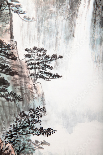 traditional Chinese painting , landscape - 63646649