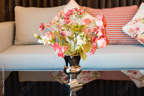 Artificial flower in vase