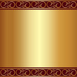 Vector abstract gold plate background with vignettes