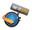 time to listen watch illustration design