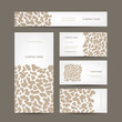 Set of business cards design, animal print