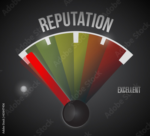 bad reputation speedometer illustration design