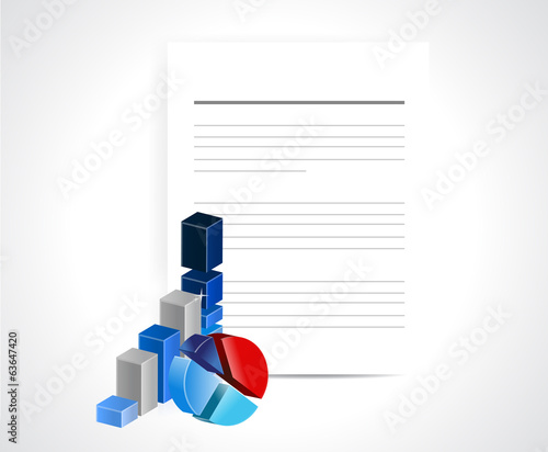 business documents illustration design