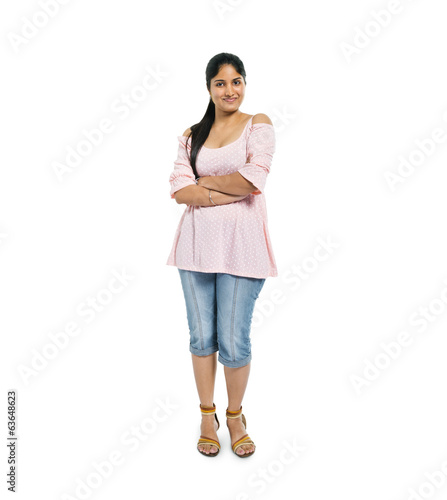 Confident Indian Woman Standing with Arms Crossed