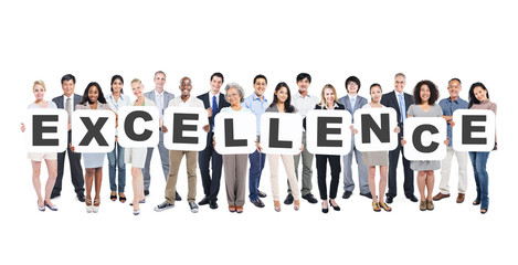 Diverse People Holding Excellence