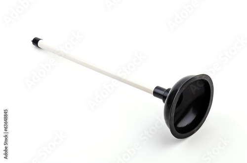 Plunger isolated white background