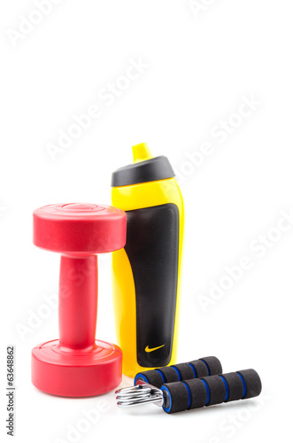 Fitness equipment isolated white background