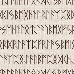 Seamless pattern of runes