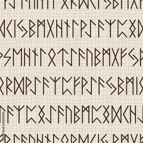 Seamless pattern of runes